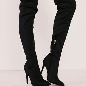 Over The Knee Foldover Lycra Boots